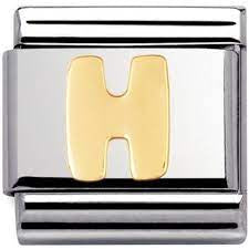 Nomination Gold Letter H Charm 030101 08