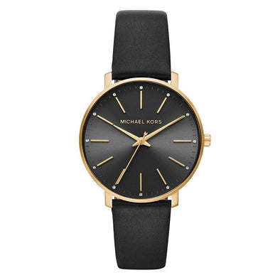 Michael Kors Pyper Gold Tone and Black Ladies Watch MK2747