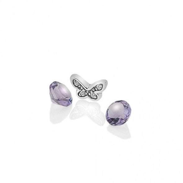 Hot Diamonds Anais Butterfly and Amethyst Charm AC112