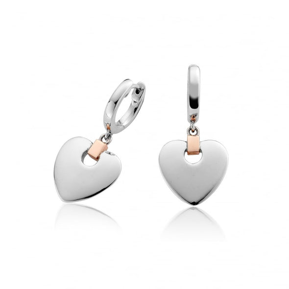 Clogau Cariad Heart Drop Earrings Product 3SCDE010