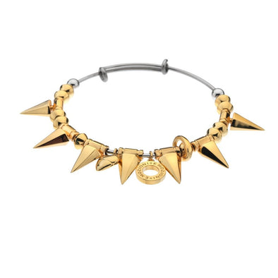 Hot Diamonds Emozioni Yellow Gold Plate Spike Bangle EB028