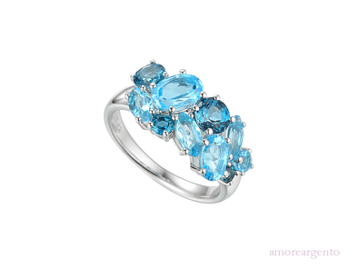 Silv Blue Topaz Ring