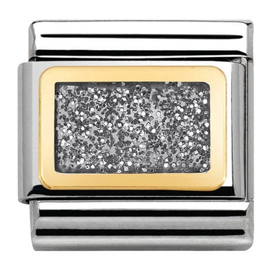 Nomination Gold Enamel Glitter Silver Plate Charm 030280-38