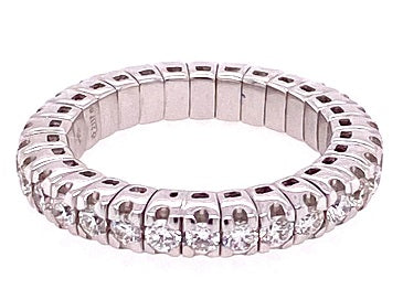 18ct White Gold Expandable Diamond Eternity Ring