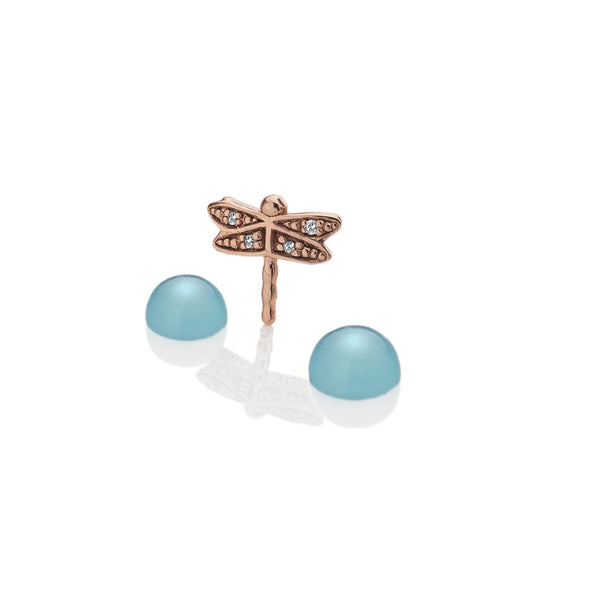 Hot Diamonds Anais Rose Gold Plated Sterling Silver Dragonfly Charm AC054