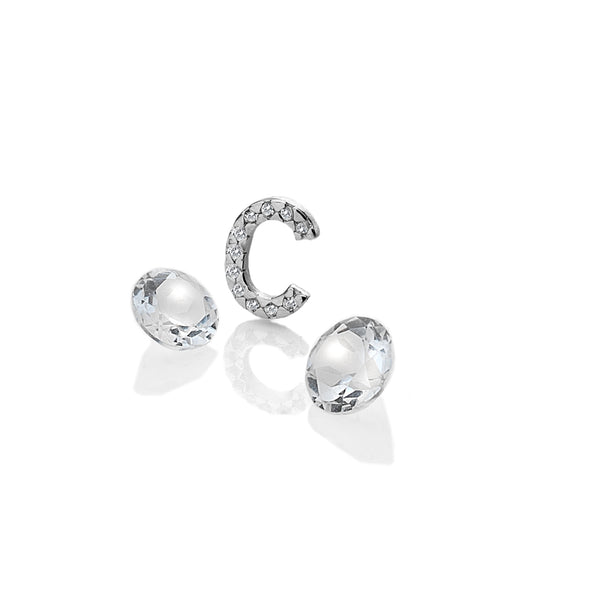 Hot Diamonds Sterling Silver C Charm AC071