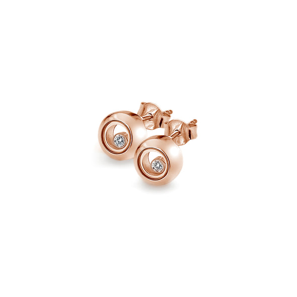 Hot Diamonds Anais Rose Gold Plated Encase Circle Earrings AE016
