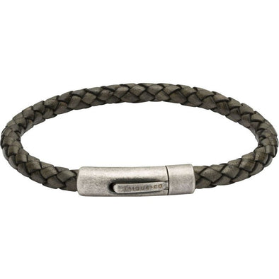 Unique & Co Black Leather Bracelet 19cm B370ABL/19cm