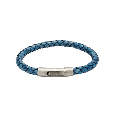 Unique & Co Blue Leather Bracelet B370AB/21cm