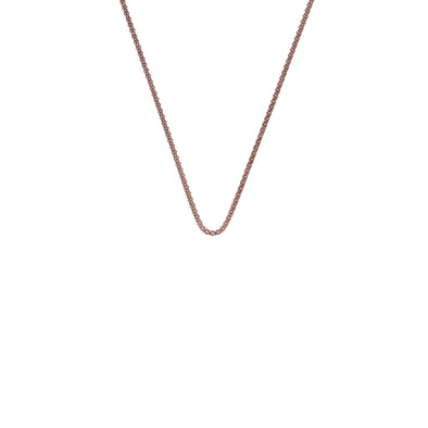"Hot Diamonds 24"" Rose Gold Plated Sterling Silver Popcorn Chain CH060"
