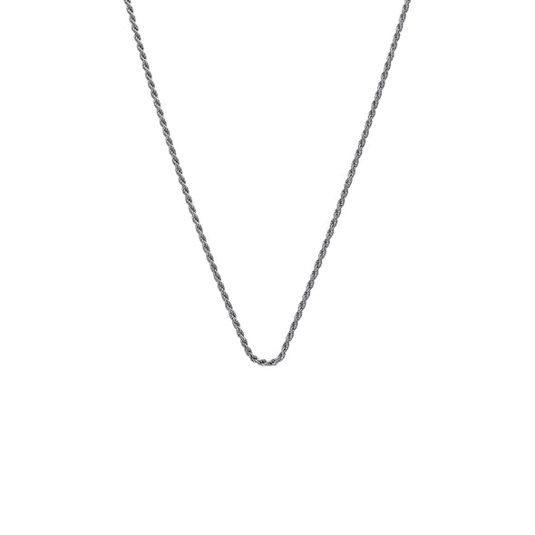 "Hot Diamonds 30"" Silver Rope Chain"