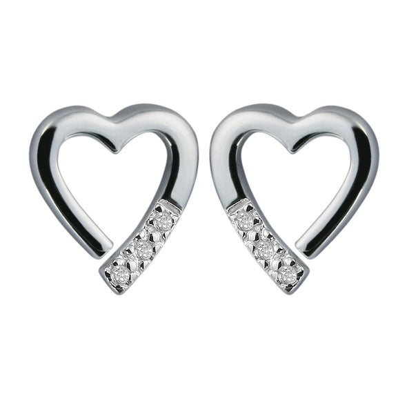 Hot Diamonds Memories Silver Earrings DE110
