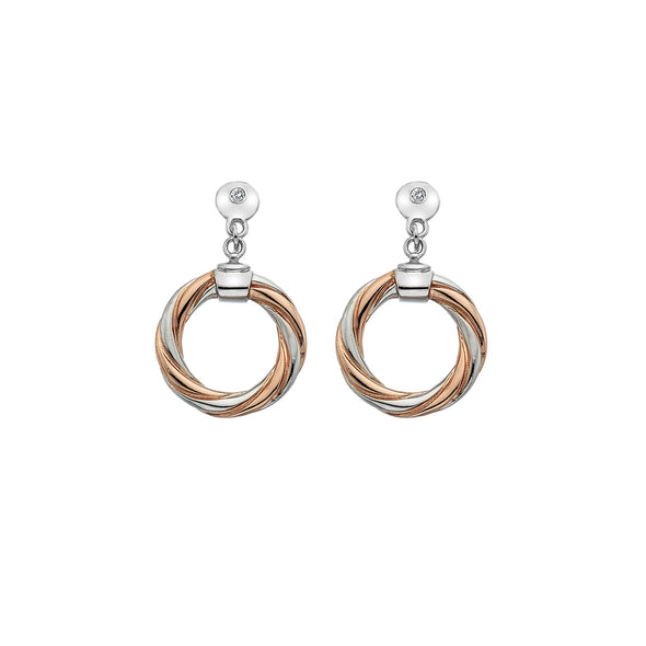 Hot Diamonds Rose Gold Breeze Earrings DE474