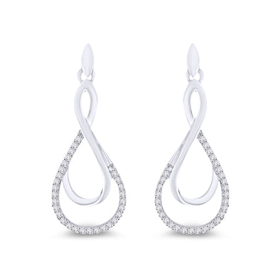 9ct Diamond Drop Earrings