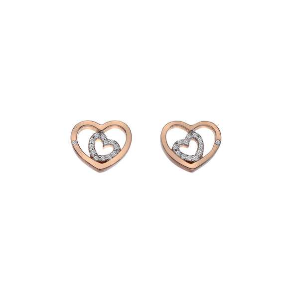 Hot Diamonds Accents Adorable Encased Earrings DE549