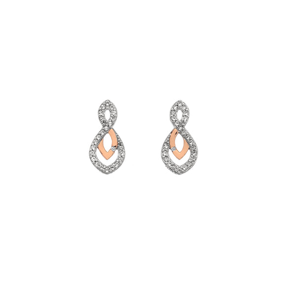 Hot Diamonds Harmony White Topaz Earrings DE608