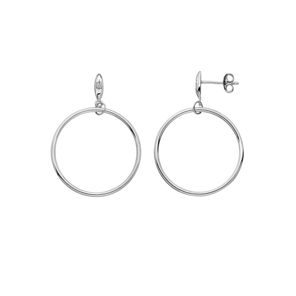 Hot Diamonds Sterling Silver Circle Earrings DE631
