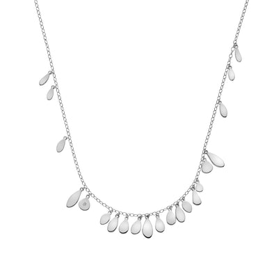 Hot Diamonds Sterling Silver Monsoon Statement Necklace DN138 ...