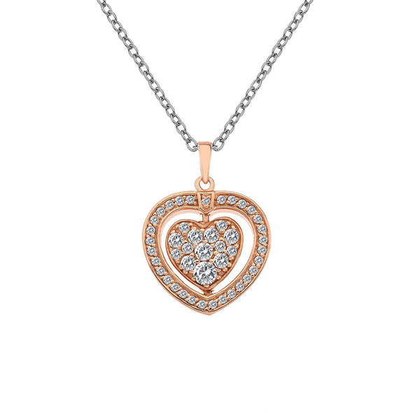 Hot Diamonds Rose Gold Turning Heart Pendant DP607