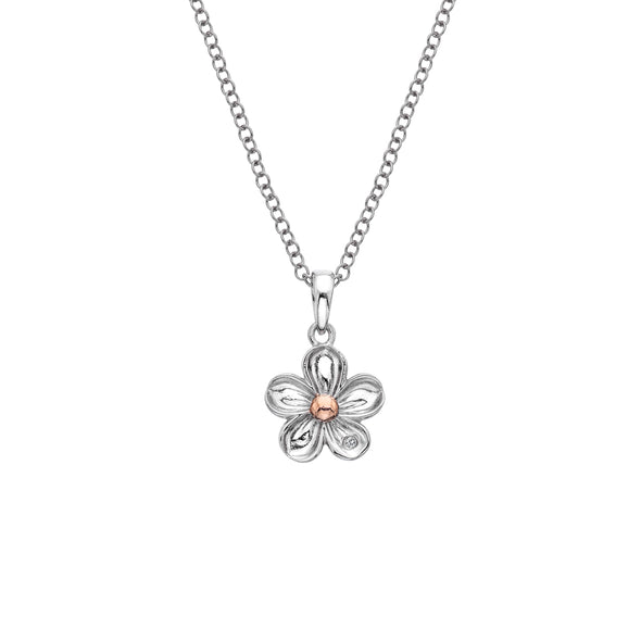 Hot Diamonds Sterling Silver Forget Me Not Pendant DP749