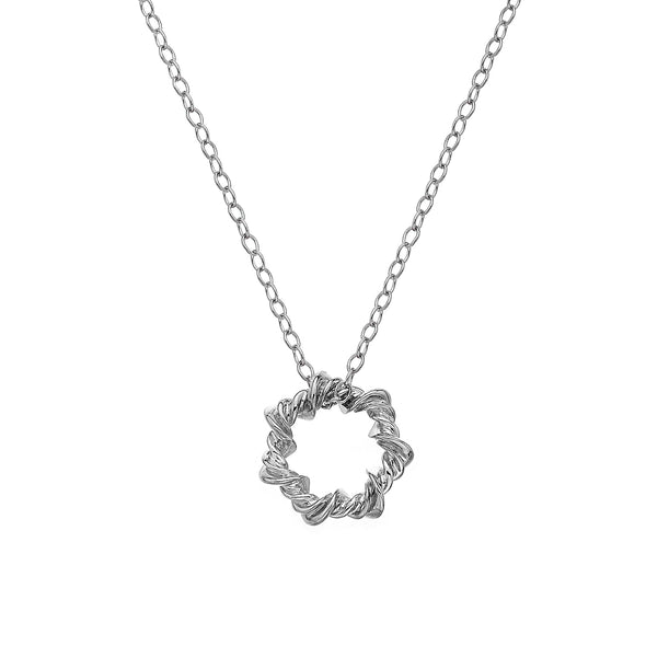 Hot Diamonds Sterling Silver Vine Necklace DP752