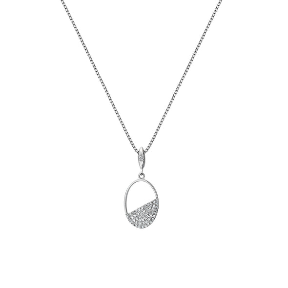 Hot Diamonds Horizon Oval Silver Pendant DP767