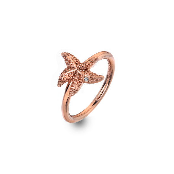 Hot Diamonds Eternal Love Rose Ring DR212 Size M