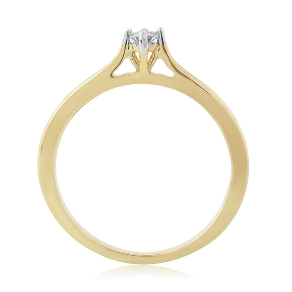 9ct Gold Diamond Solitaire Ring