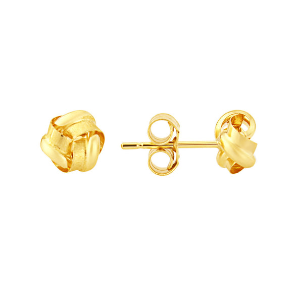 9ct Gold Frosted Knot Earrings