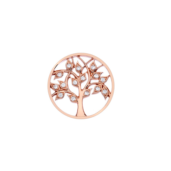 Hot Diamonds Emozioni Tree of Life Coin 25mm EC428