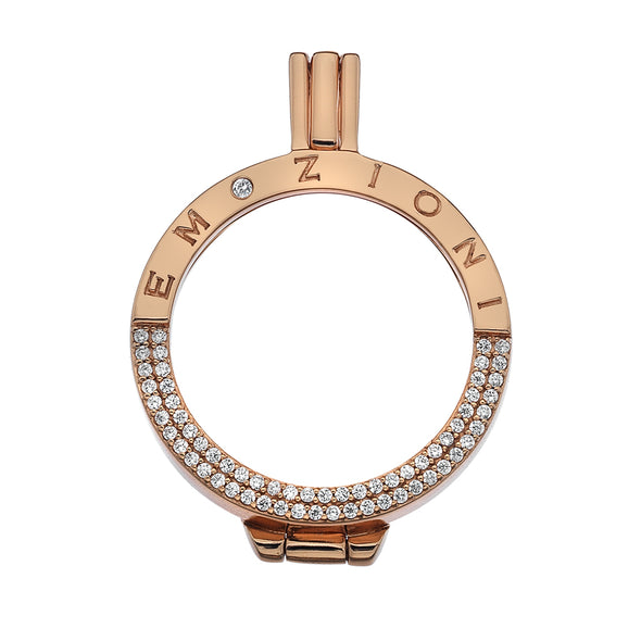 Hot Diamonds Emozioni Reflessi Rose 33mm Coin Keeper EK045