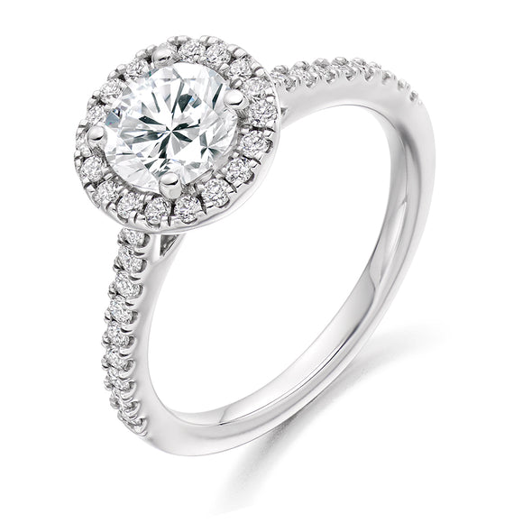 Platinum Halo Diamond Cluster Ring