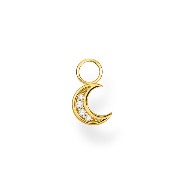 Thomas Sabo Gold Plated Cubic Zirconia Moon Ear Pendant EP003-414-14