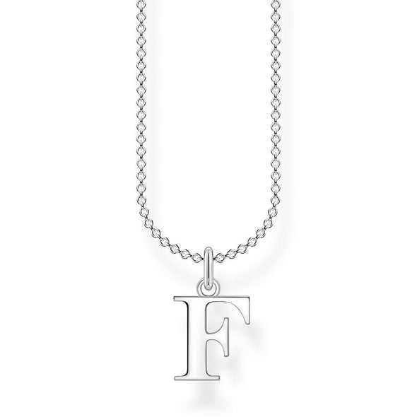 Thomas Sabo Silver Letter F Necklace KE2015-001-21-L45V