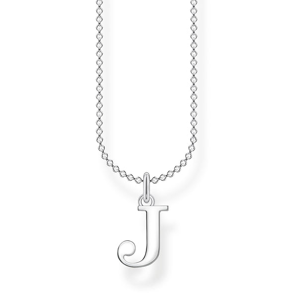 Thomas Sabo Silver Letter J Necklace KE2019-001-21-L45V
