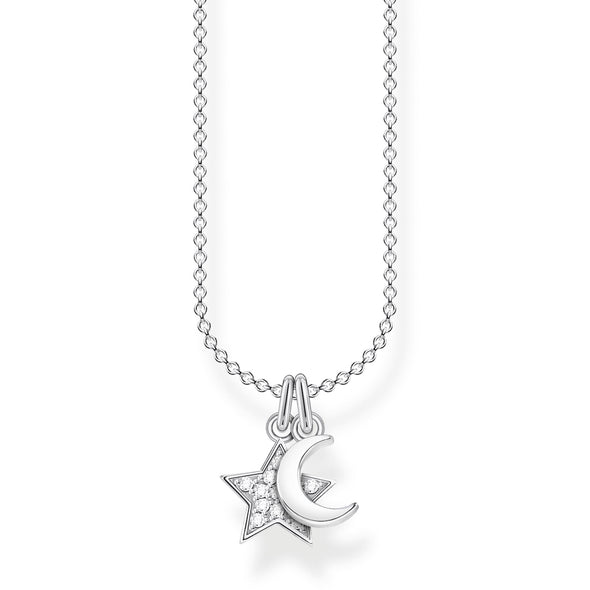 Thomas Sabo Star and Moon Silver Necklace KE2068-051-14-L45v