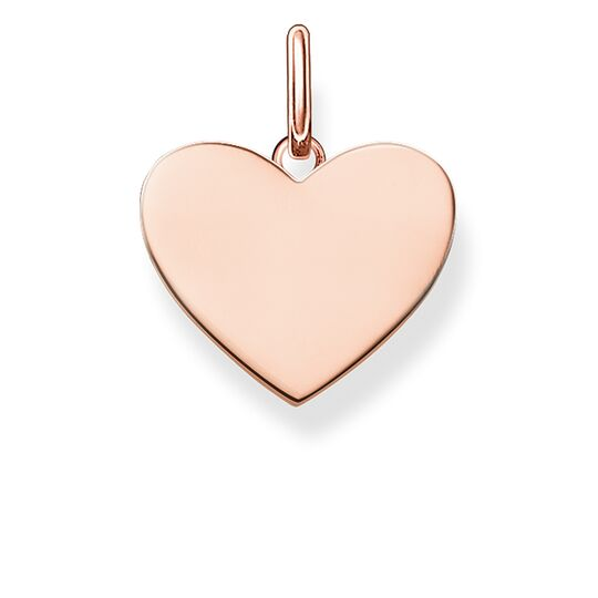 Thomas Sabo Ladies Love Bridge Rose Gold Heart Pendant LBPE0002-415-12