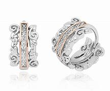 Clogau Silver Am Byth Diamond Hoop Earrings 3SETOLE3