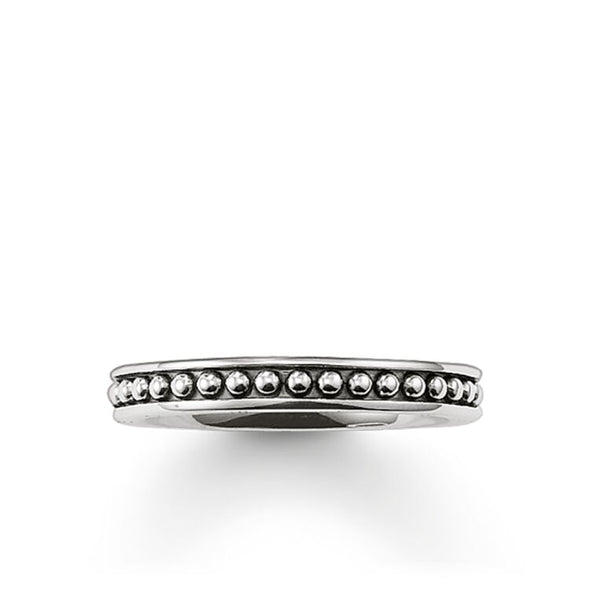 Thomas Sabo Size 62 Silver Narrow Studded Band Ring TR1927-001-12