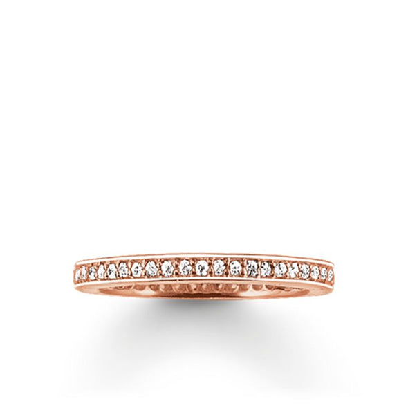 Thomas Sabo Size 54 Rose Gold Pavé Eternity Ring TR1983-416-14-54