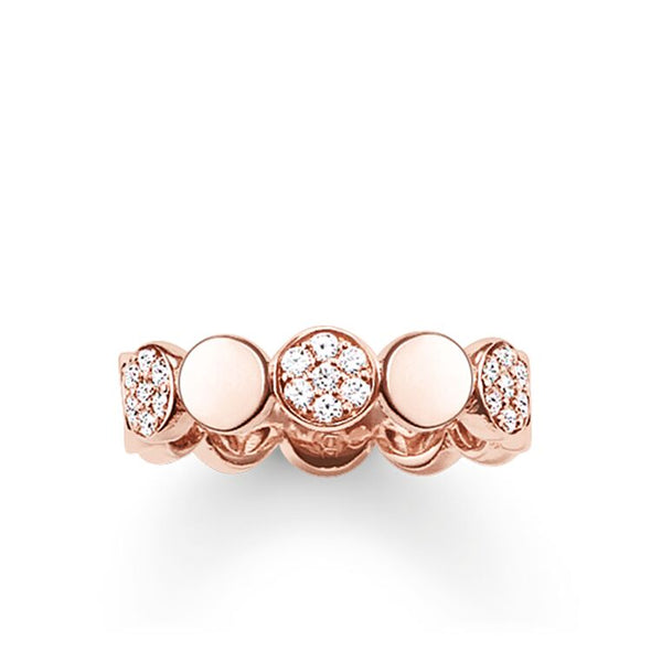 Thomas Sabo Size 54 Rose Gold & CZ Glam Soul Ring TR2048-416-14-54