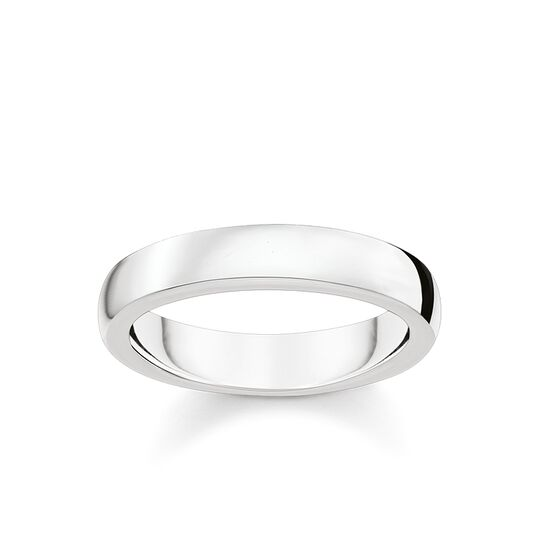 Thomas Sabo Size 52 Sterling Silver Love Band Ring TR2114-001-12-52