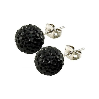 Tresor Paris 10mm Black Earrings 16076