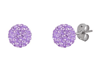 Tresor Paris 10mm Lilac Earrings 16074