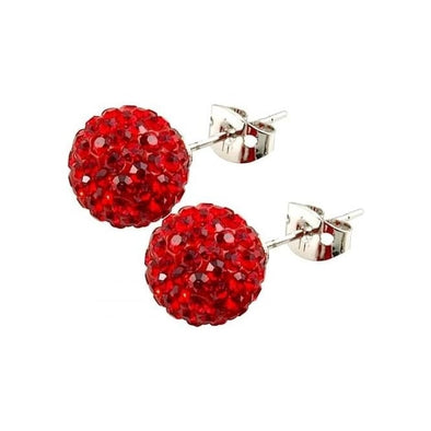 Tresor Paris 10mm Red Earrings 16075