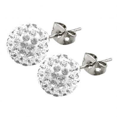Tresor Paris 10mm White Earrings 16068