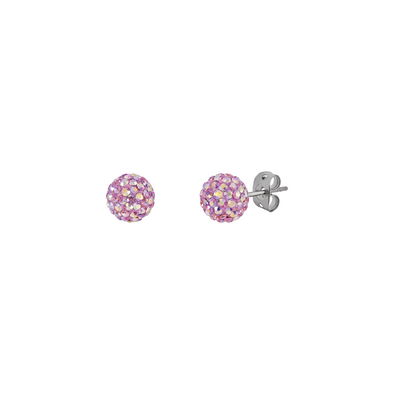 Tresor Paris 8mm Blush Pink Earrings 20733