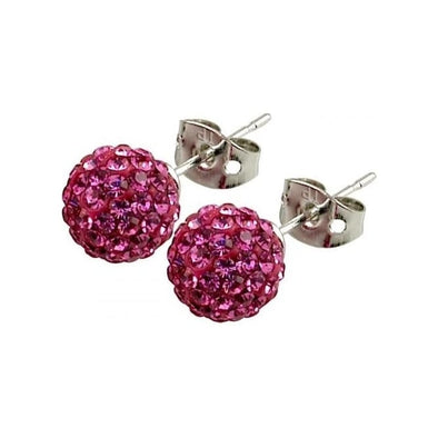 Tresor Paris 'Proussy' Pink Crystal Earrings, 8mm 016007