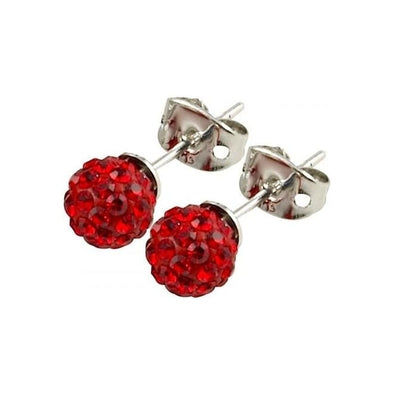 Tresor Paris 'Saint Remy' Red Crystal Earrings, 8mm 016012
