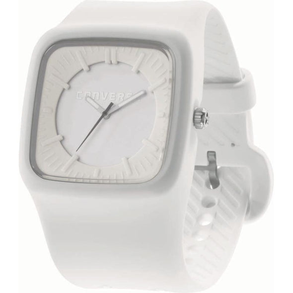 Converse White Square Rubber Watch